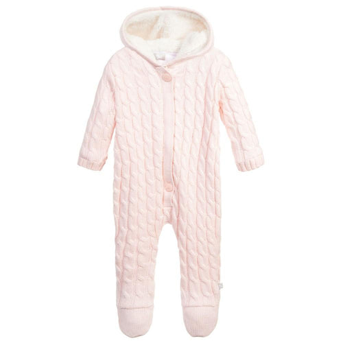 Pink Cashmere Knitted Pramsuit