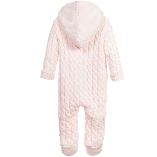 Pink Cashmere Knitted Pramsuit - souzu.co.uk