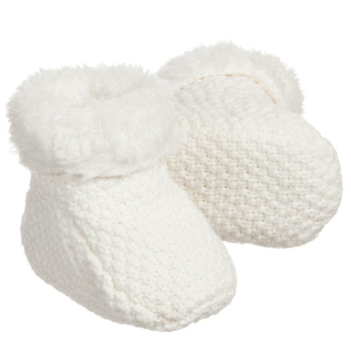 Cream Plush Lined Booties - souzu.co.uk