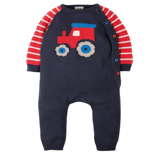 Tractor Knitted Romper