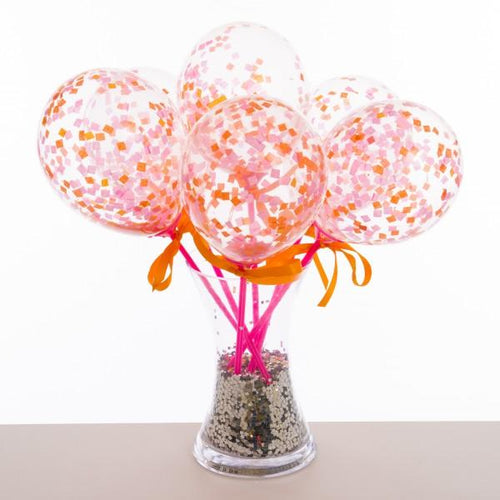 Flamingo Pink Balloon Wands - souzu.co.uk