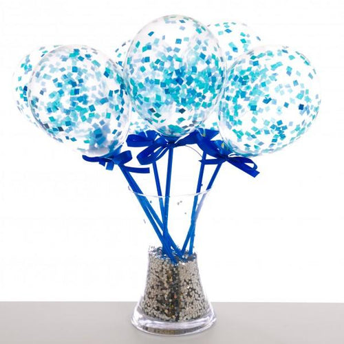 Peacock Blue Balloon Wands
