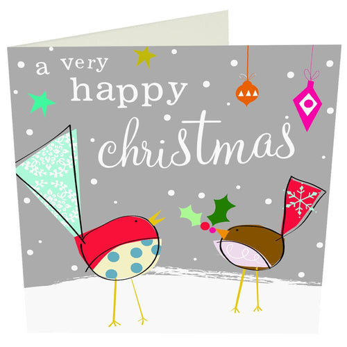 A Very Happy Christmas Robin Card - souzu.co.uk