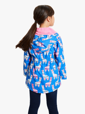 adorable alpacas microfibre rain jacket