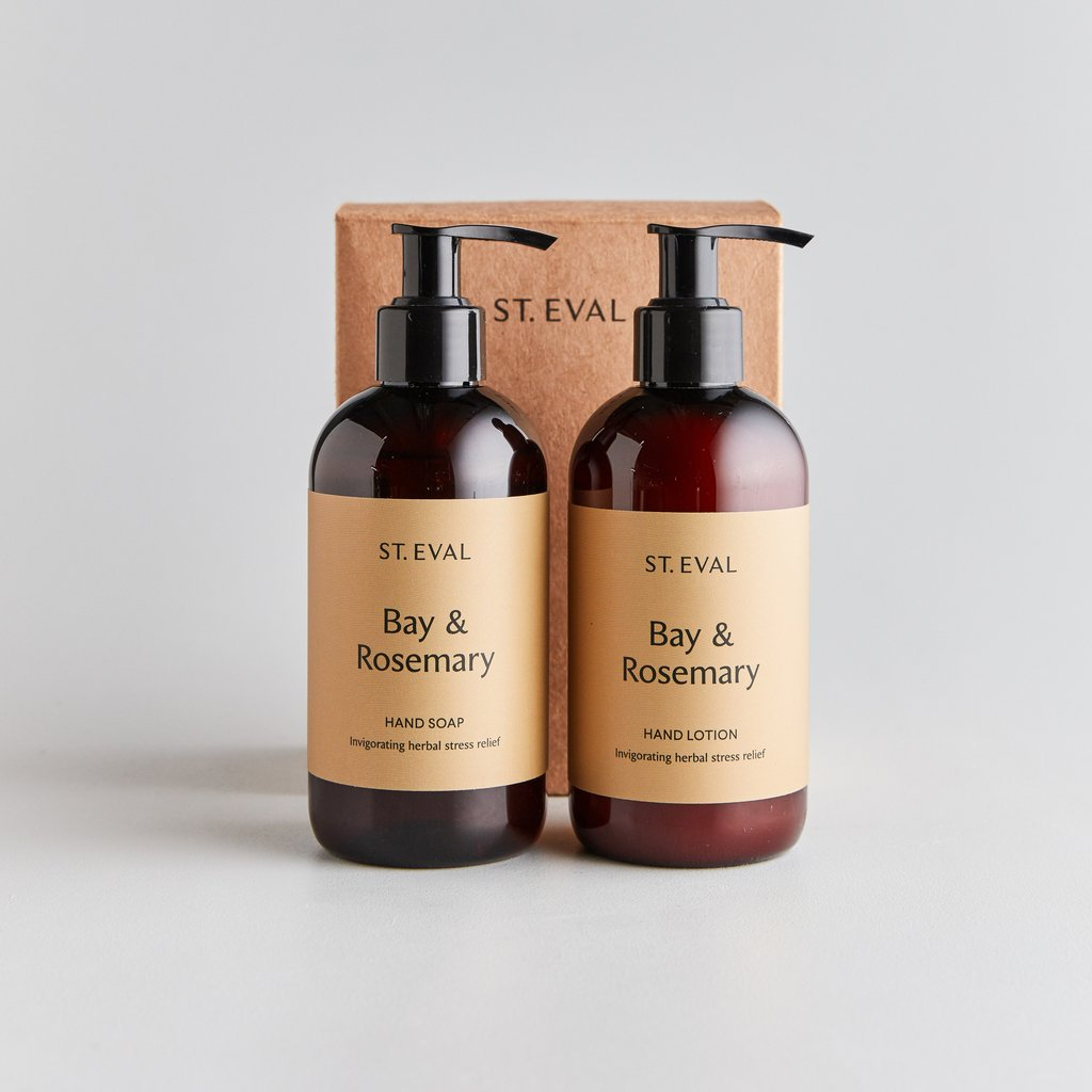 Bay and rosemary scented hand wash & lotion set - ST EVAL