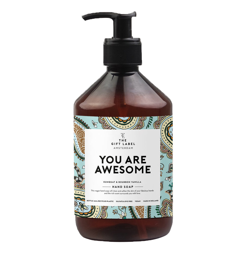 the gift label hand wash - you are awesome