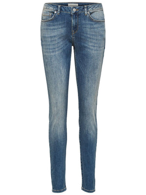 Mid Waist Skinny fit jeans - medium blue denim