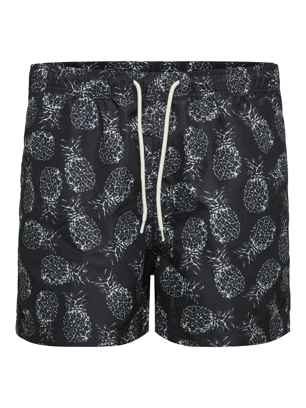 Printed Swim Shorts - Black Pineapple