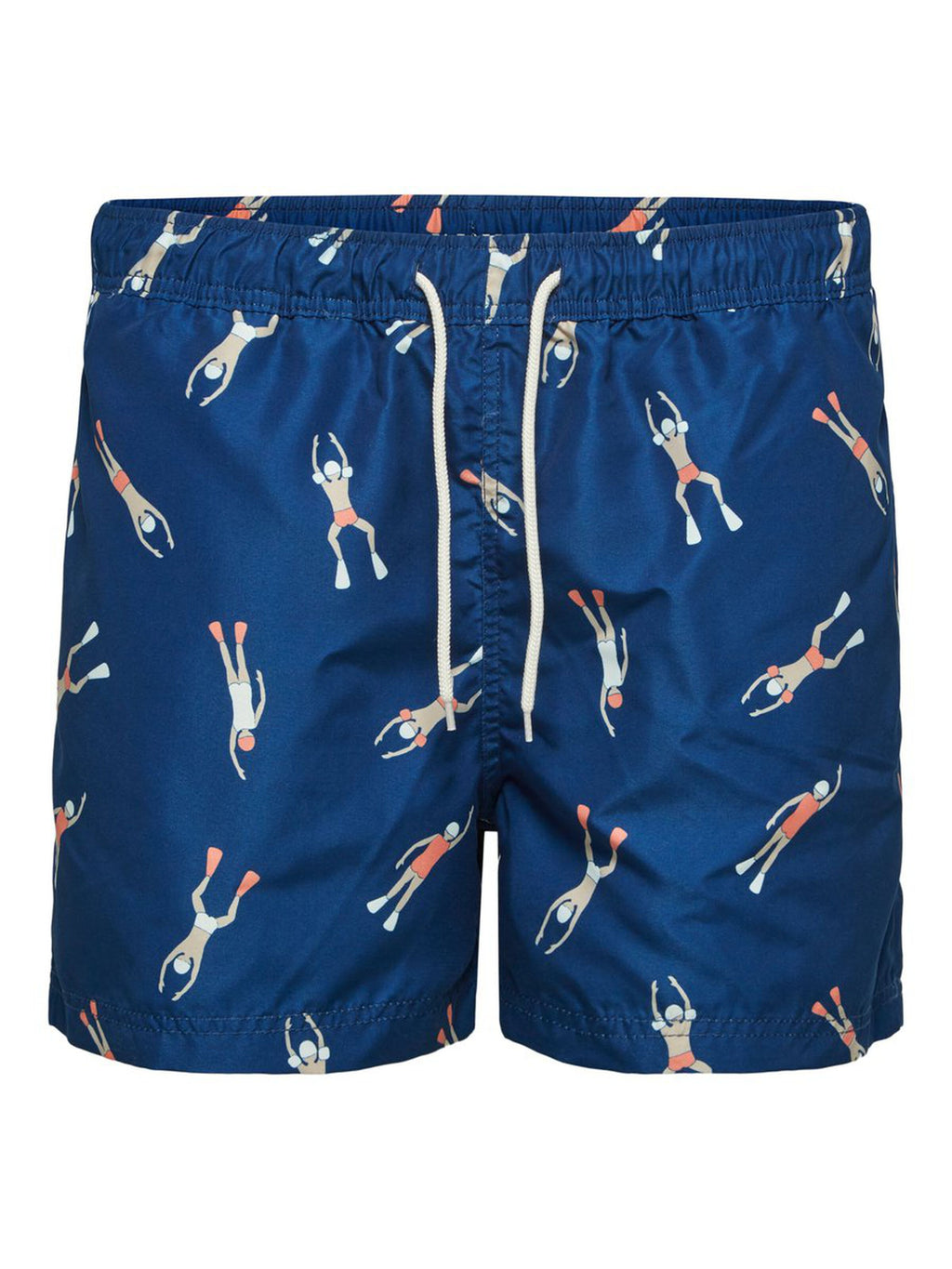Printed Swim Shorts - Swimmers / Blue