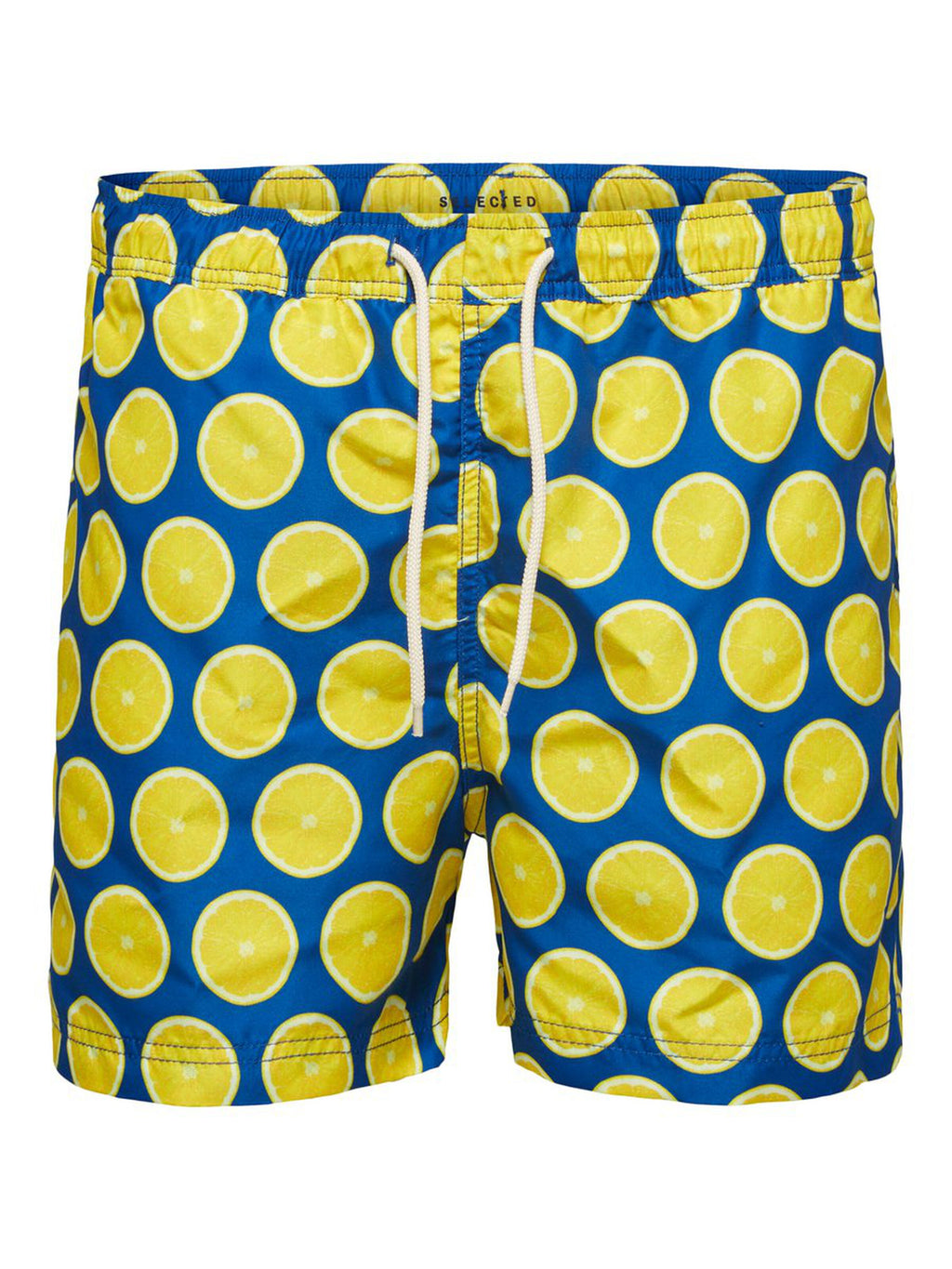 Printed Swim Shorts - Lemon / Blue