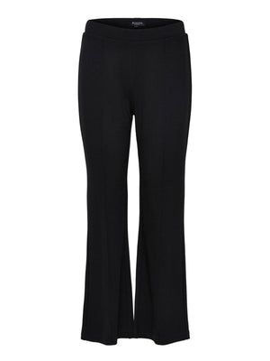 Flared trousers - black