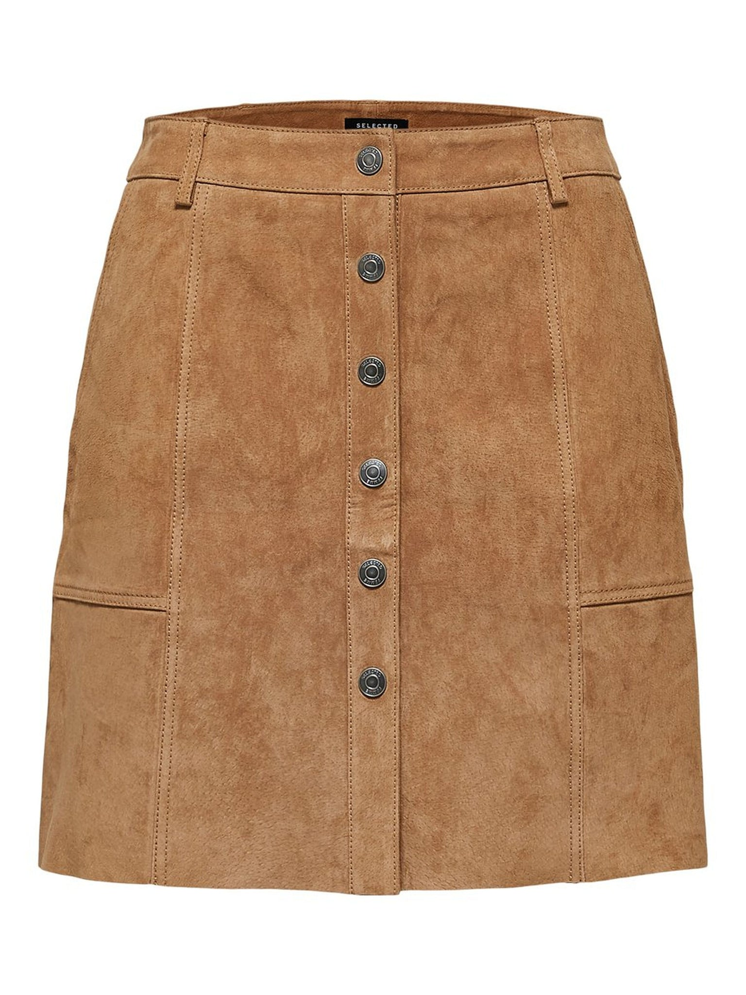 Suede Leather Skirt