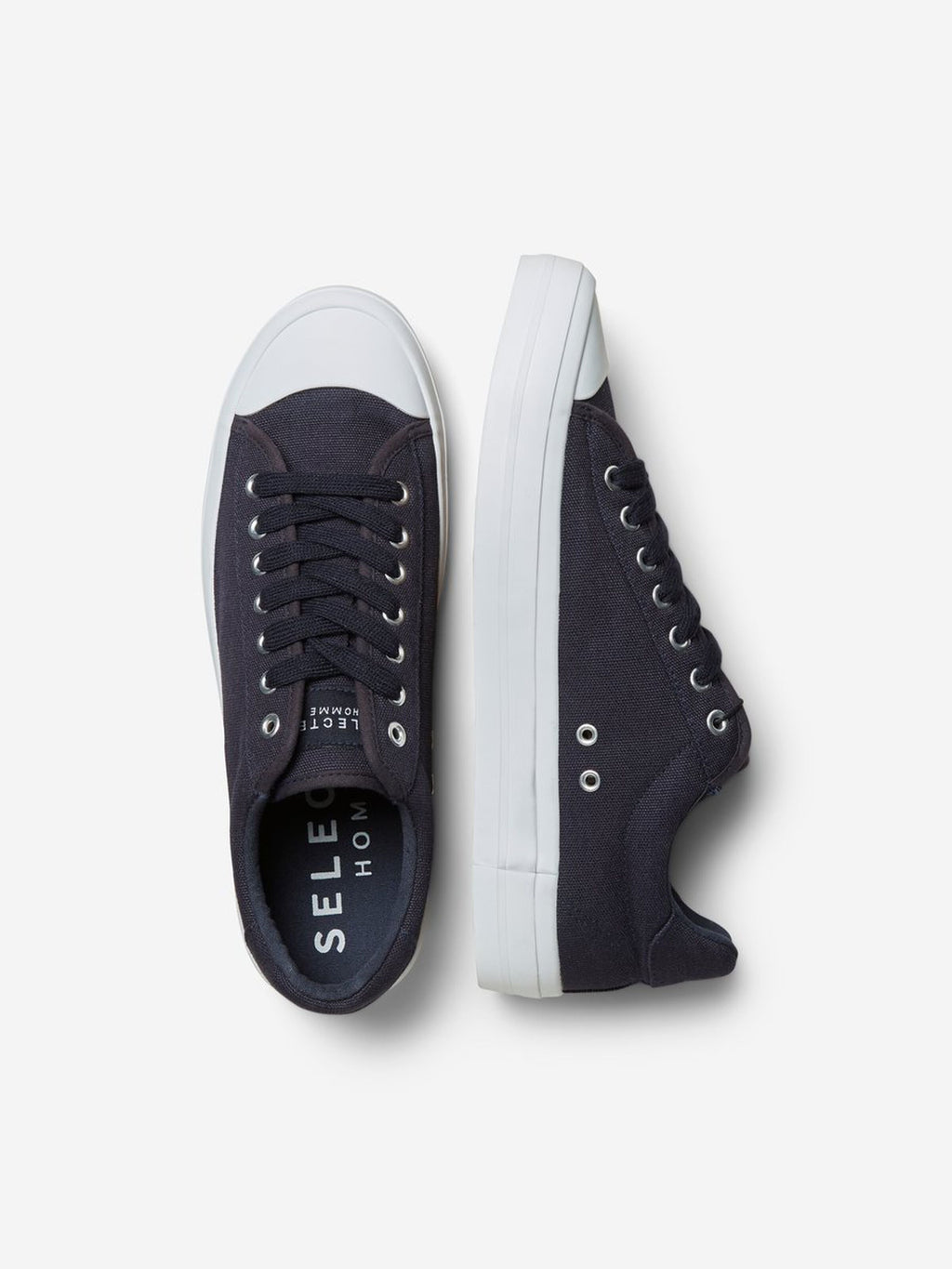 Canvas Trainers - Dark Navy