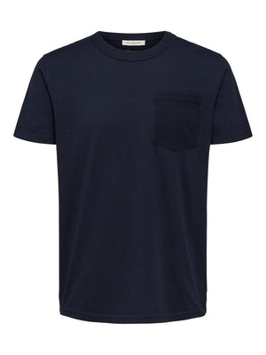 regular fit t-shirt with corduroy pocket