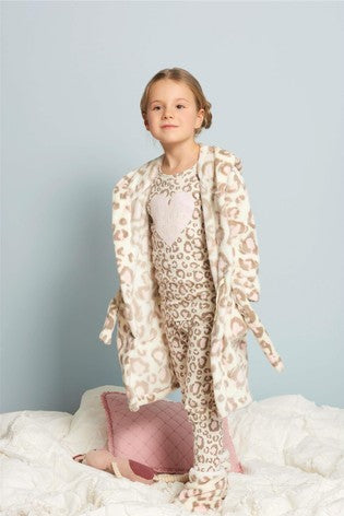 painted leopard organic cotton raglan pj set