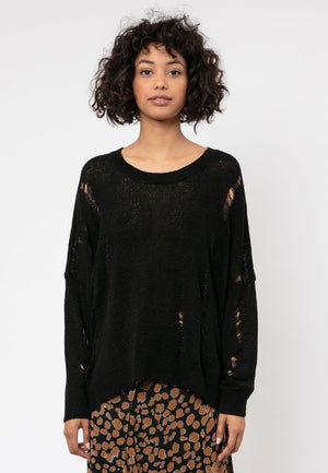 Bloom Relaxed Black Jumper