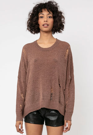 Bloom Relaxed Brown Jumper