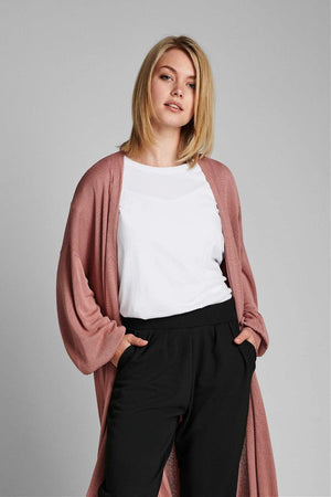 Nubia long cardigan - ash rose