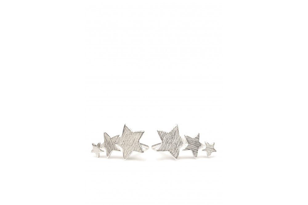 silver shooting star earrings - pernille corydon