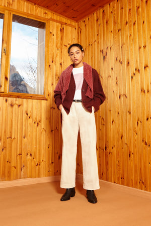 CREAM CORDUROY TROUSERS