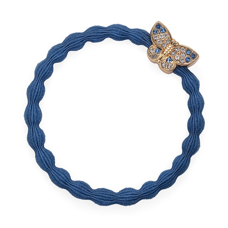bling butterfly dove blue hair band