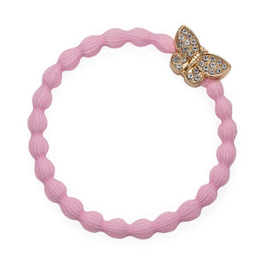 bling butterfly soft pink hairband