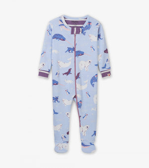 polar critters organic cotton baby grow