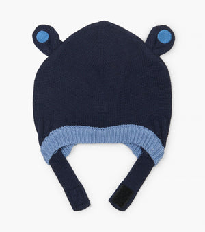 blue bear ears baby hat