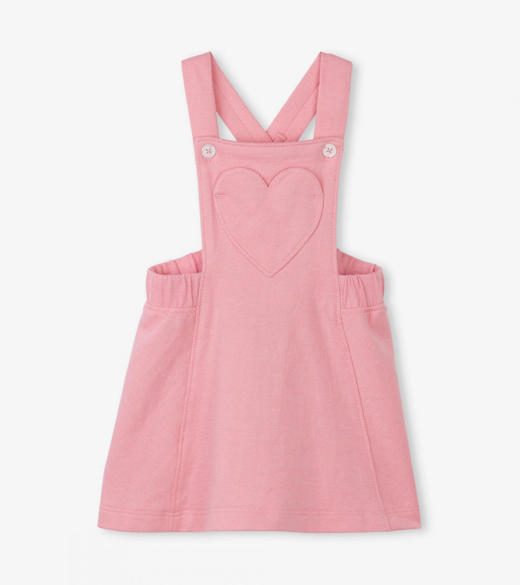 sweetheart pink baby pinafore