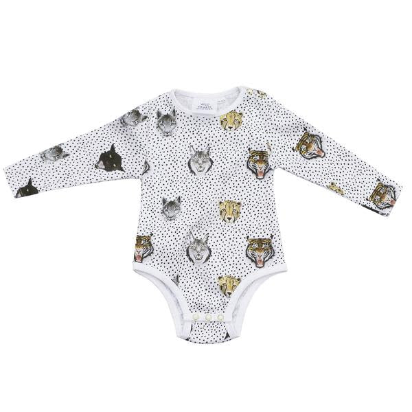 wild cats baby grow romper