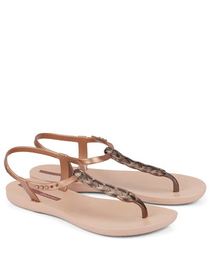 blush braid charm sandal