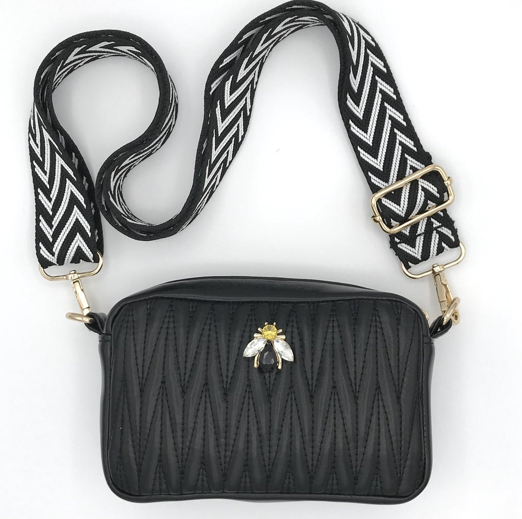 mini cross body bag in Vegan leather - rivington in black