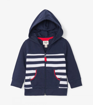 nautical stripe baby hoodie