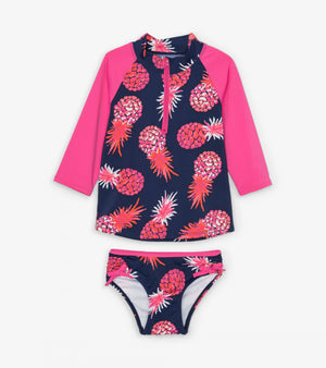 party pineapples rash guard set