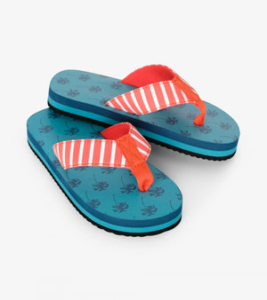 tropical palms flip flops