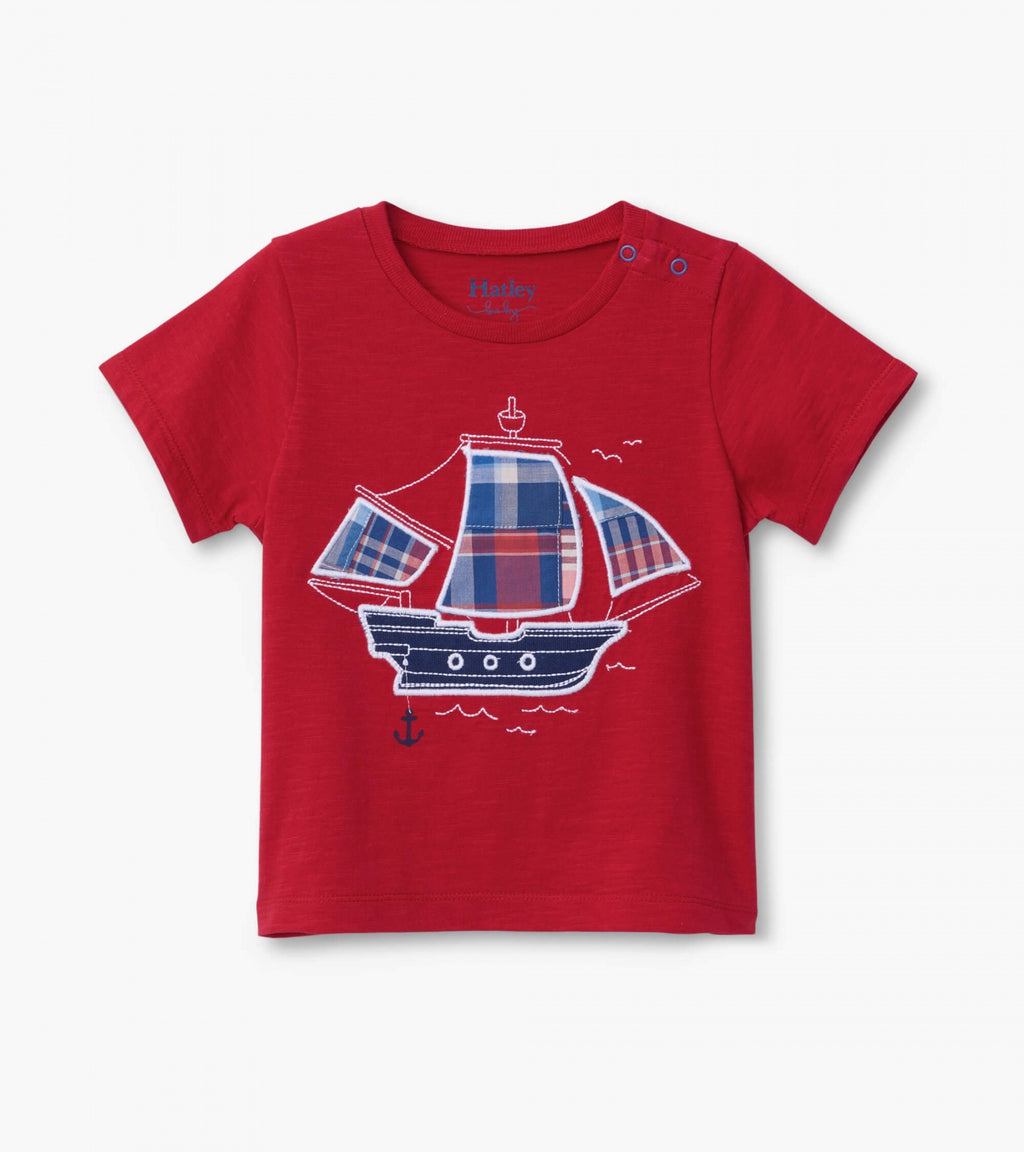 nautical ship baby graphic tee