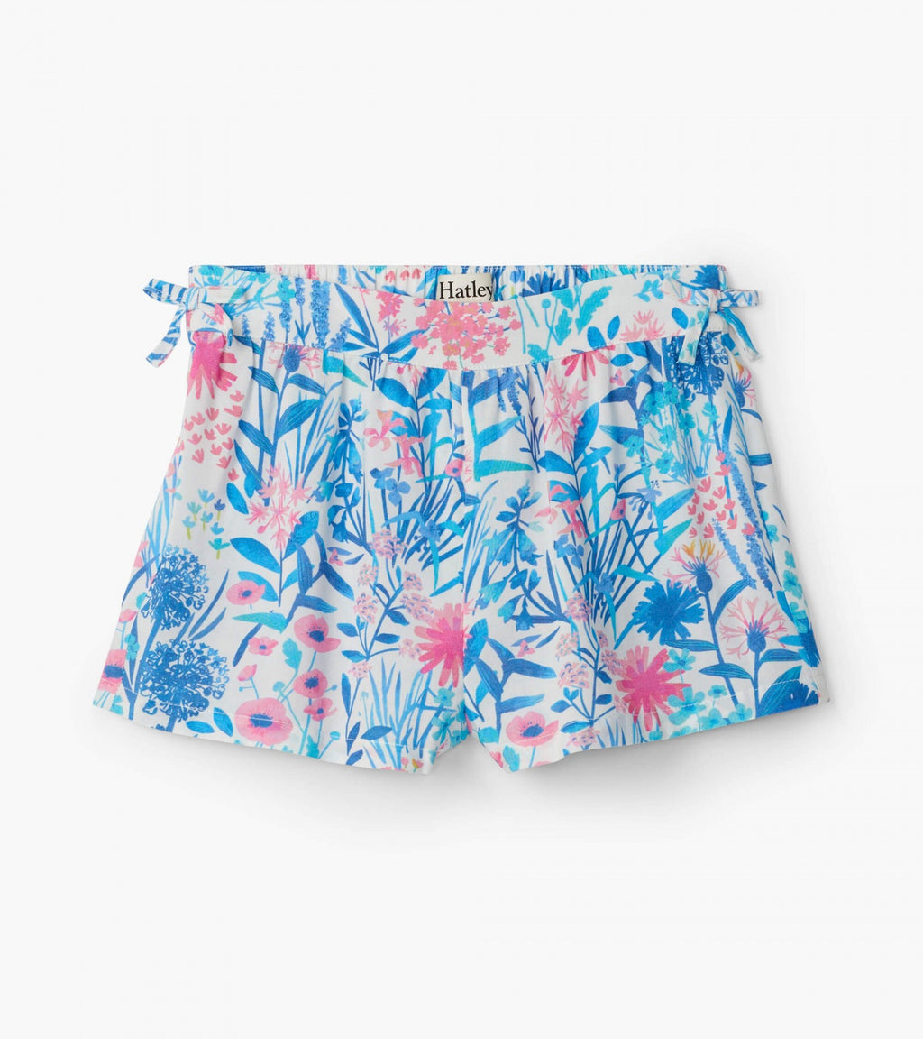 spring wildflowers gathered shorts