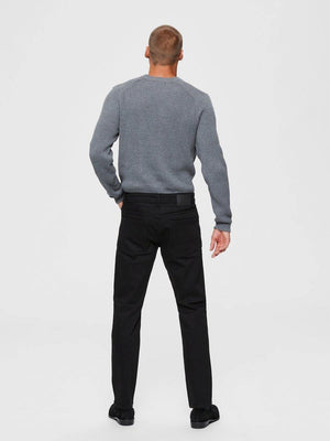 straight cut jeans - black