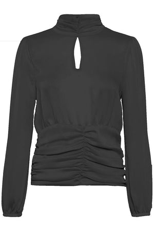 LONG SLEEVE BLOUSE - BLACK