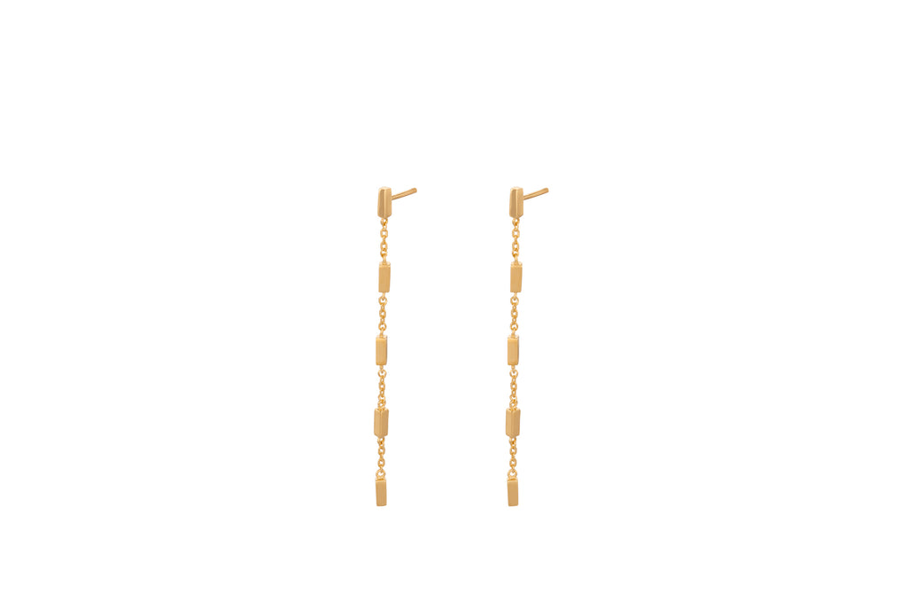 gold Tribeca earrings - pernille corydon