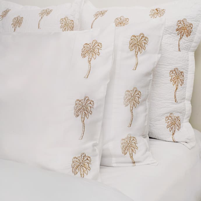 palmier pillow case pair