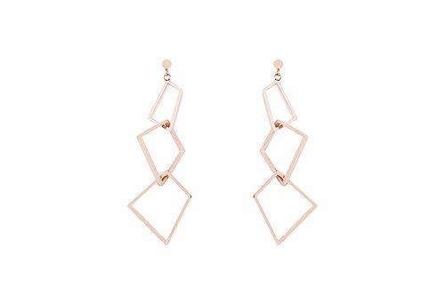 the Hepworth geometric drop earring in 18kt rose gold plate