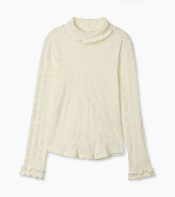 winter cream turtleneck