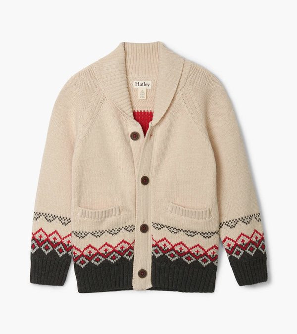 majestic stag shawl collar cardigan