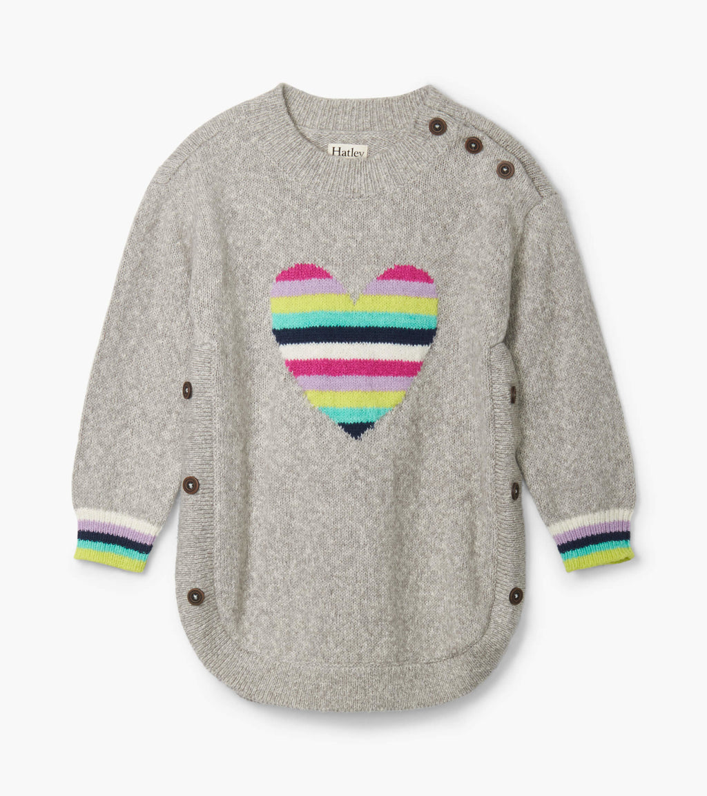 rainbow heart chunky sweater