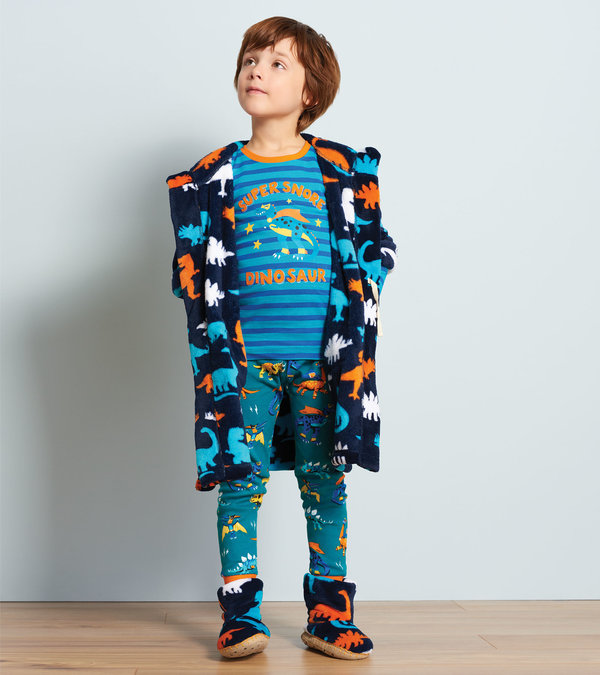 superhero dinos organic cotton appliqué Pj set