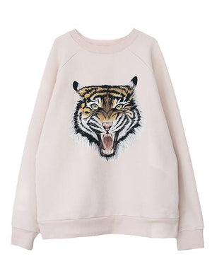 women's lux oversized pink sweatshirt