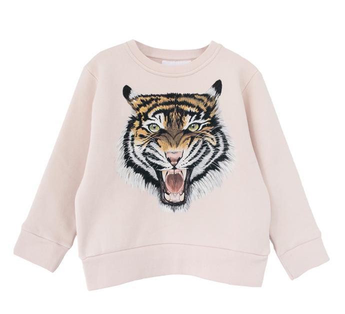 children's LUX tiger sweatshirt in pink