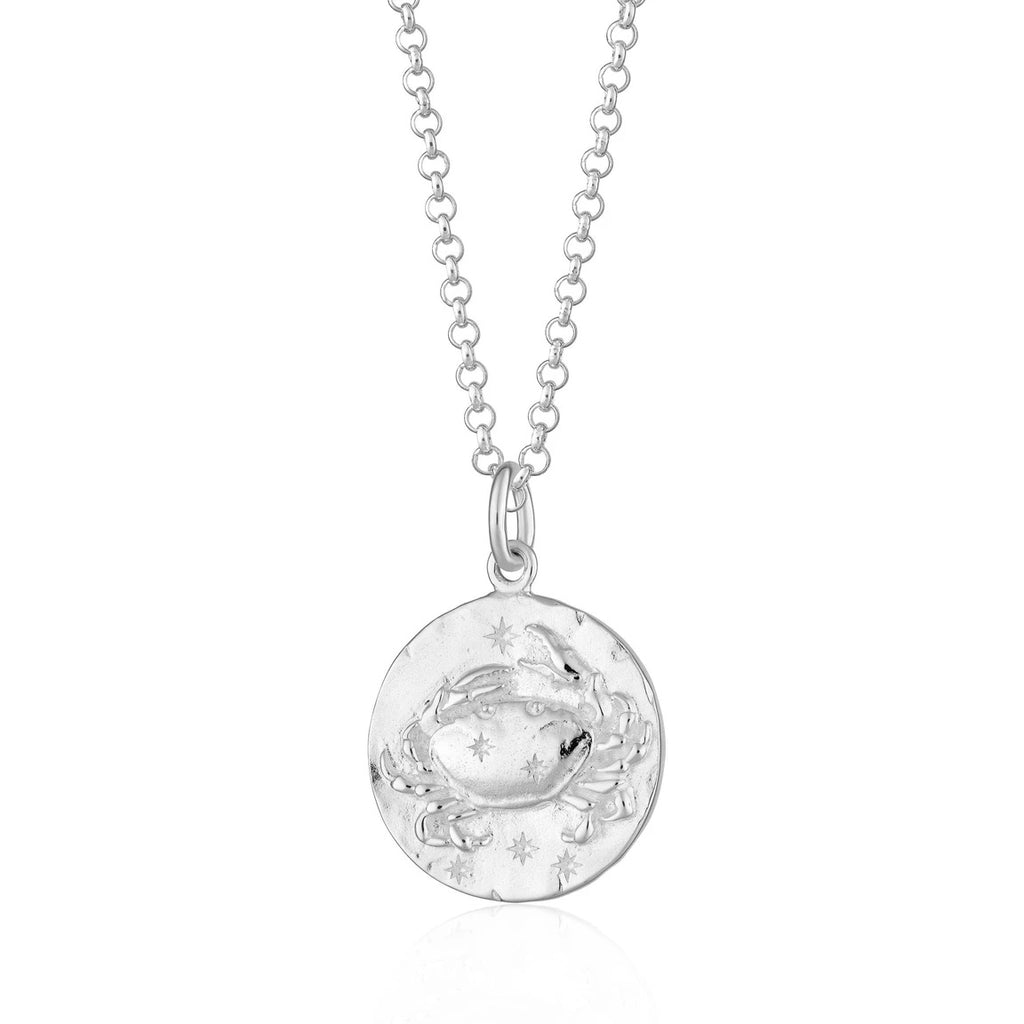 Cancer Zodiac Necklace - silver