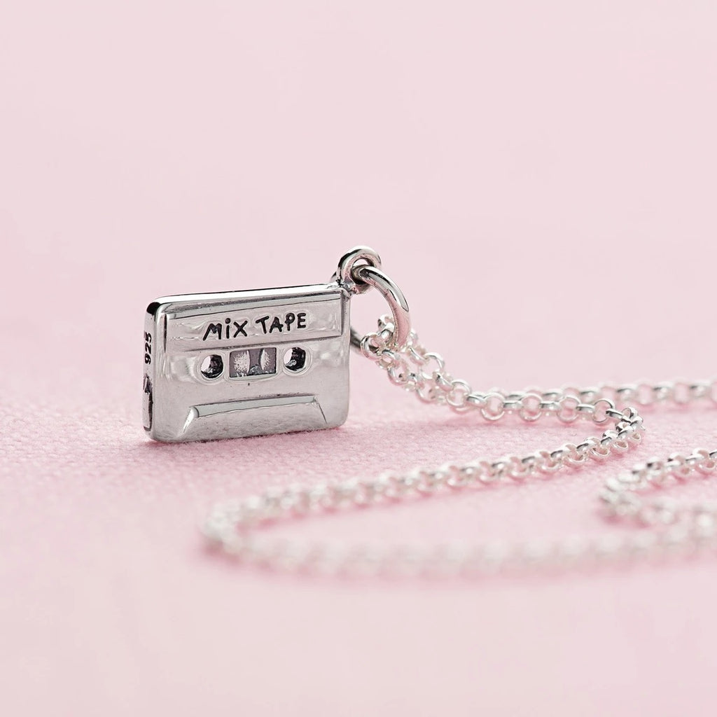 Mix tape necklace - sterling silver